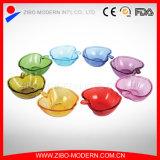 Cute Apple Shape Colored Glass Plates, Glass Dessert Plate, Wholesale Cheap Glass Dessert Plate