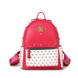 Newest Designer Fashion Punk Stylish Leather Backpack for Girls
