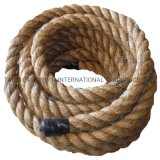 PP Polyester Jute 3 Strands Twisted Battle Rope for Sale