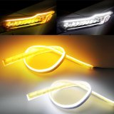 Strip Light for DRL 60cm Daytime Running Light Flexible Soft Tube Guide Car LED