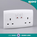 British Standard Double 13A Double Pole Socket with Neon