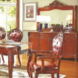 Wood Dining Table with Wine Cabinet for Dining Room Furniture