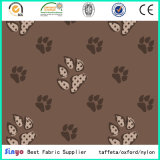 Hot Sale 500d PU Coated 160cm Dog Foot Printed Fabric with Waterproof
