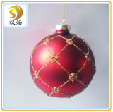 8cm Hanging Round Glass Ball Christmas Ornaments