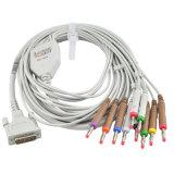 Schiller Patient 10 Lead EKG ECG Electrode Leadwire Cable