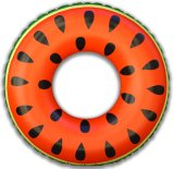 Holiday Party Pool Swimming 4 Feet Diameter Inflatable Watermelon Ring