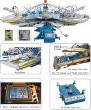 Factory Supplying 8 Colors 10 Stations T-Shirt/Garment/Textile/Fabric/Non-Woven Bag Screen Printer/ Screen Printing Machine