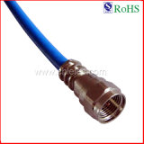 7.0mm Rg6u Popular China Blue TV a/V Audio Video Coaxial Cable with RoHS (SY101)