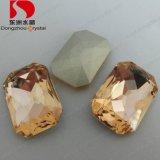 13*18mm Octagon Light Peach Crystal Glass Stones Wholesale