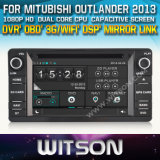 Witson Car DVD Player with GPS for Mitubishi Outlander 2013 (W2-D8844Z) Steering Wheel Control Front DVR Capactive Screen