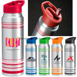 28 Oz Striped Aluminum Water Bottle