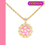 Fashion Gold Plated Hongkong Regional Flag Pendant Necklace #14600