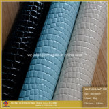 Embossed Patent Crocodile PU Leather (B003)