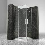 Aluminium Frame Toughened Tempered Glass Hinged Shower Box Cost Price