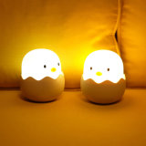 Cartoon Chicken Egg Sleeping Lamp Novelty LED Silica Gel Night Light