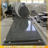Snow Grey Granite Monument Tree Carving Memorial Tombstone