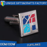 Factory Manufacture Colourful Jigsaw Puzzle Cufflinks for Men