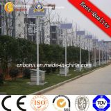 Single Arm Round Conical Steel Garden Solar Lighting Pole