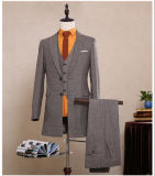 (Coat+Pants+Vest) Herringbone Mens Suits Long Jacket Mans Business Suits Slim Fit Custom Size Groomsmens Wedding 2017 New Customized Beskpoke Trench Coat Mens