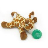 Plush Stuffed Giraffe Pacifiers Baby Toys with Silicone Binky Teething Soother