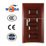 Brazil Heatransfer Woodcolor Hot Sell Metal Steel Security Door (W-S-83)