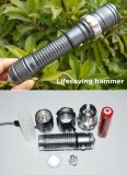 Zoomable CREE 4W XPE Lifesaving Hammer LED Field Flashlight