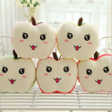 2016 Cute Wholesale Apple Shaped Plush Emoji Pillows for Kids