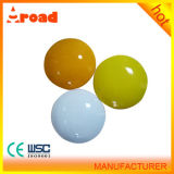 Best Sales Round White/Yellow Ceramic Cat Eye Road Stud