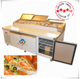 S/S Pizza Workbench Refrigerator with Display Trays
