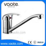 Brass Cheap Kitchen Faucet Mixer with Chrome Plated (VT10305)