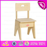 Hot New Product for 2015 Wooden Chair for Kids, Cheap Safe Wooden Chair for Children, High Quality Wooden Chair for Baby W08g028