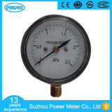 60mm 2.5kpa Chromeplate Bottom Connection Bellows Pressure Gauge