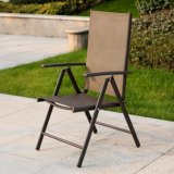 Patio Outdoor Rattan Home Hotel Office Aluminum Polywood Arm Folded Textilene Dining Chair (J825)