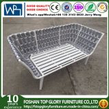 Aluminum Frame Belt Woven Outdoor Furniture 2 Seat Sofa