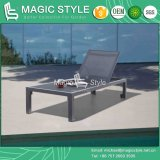 Outdoor Textile Lounge Garden Sling Sunlounger Aluminum Daybed Poolside Lounge Modern Leisure Chaise Lounge