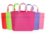 OEM Non Woven Fashion Colorful Plaid Shopping Hand Bag