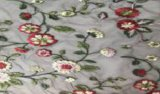 Embroidery 100%Cotton Flower Design Other Design and Color