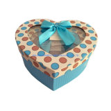 Paper Gift Box Heartshaped with PVC Window Gift Box Set 3 Boxes One Set Good Price
