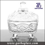 Decorative Glass Candy Jar& Glass Pot for Sweety (GB1818JH)