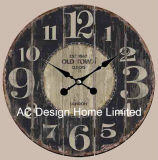 Vintage Antique Classic Old Time Design MDF Wooden Wall Clock