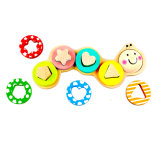 Wooden Caterpillar Shape Sorter Puzzle Toy for Kids and Children