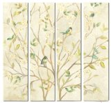 Hand-Painted Screen 20X 80 Inch Set of 4 Oil Picture for Wall Art GF-P190522127
