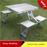 Outdoor Aluminum Alloy Portable Folding Siamese Tables and Chairs
