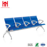 Lowest Price 4-Seater Blue PU Leather Waiting Chair
