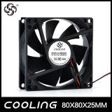 Axial Flow Fan 80X80X25mm 3.3V 5V 12V 24V Small Mini DC Motor Fan Factory Good Price