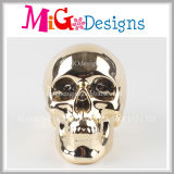Fashionable Skull Money Bank with Electroplate