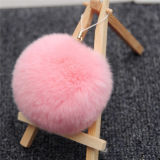 Best Price of Rabbit Fur Ball Keychain with Good Service