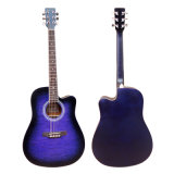 China High Quality Color Cutway Acoustic Guitar