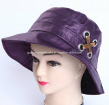 Fashion Purple Brushed Cotton Cap Woman