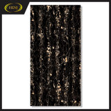 Black and Gold Marble Effect 180 X 90 Cm Polished Porcelain Tile for Interior, Exterior for Project, Floor Tile